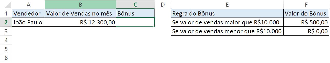 Tabela Função SE